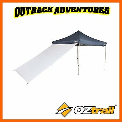 AU42.95 • Buy Oztrail Gazebo 2.4m Monsoon Rainfly Multipurpose Wall Awning White Updated Model