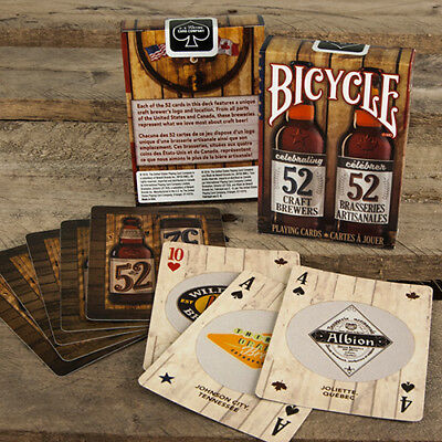 Bicycle Craft Beer Deck - Playing Cards - Second Edition - Magic Tricks - New • 5.65£