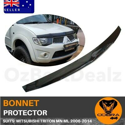 AU87 • Buy  Bonnet Protector SUITS Mitsubishi Triton MN ML 2006-2014 Tinted Guard Black