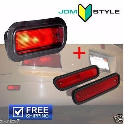 $50.99 • Buy Rear Bumper Bulb Red Fog Light Lamp + Side Marker Accord Civic Acura Prelude JDM