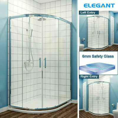Offset Quadrant Shower Enclosure Corner Cubicles And Tray 6mm Tempered Glass • 151.99£