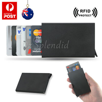AU7.45 • Buy RFID Blocking Aluminum Slim Wallet ID Credit Card Holder Case Protector Purse OZ
