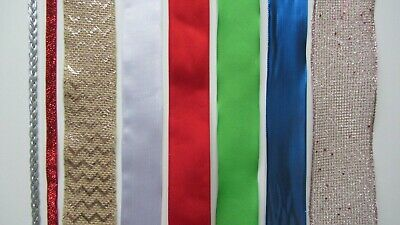 WIDE/EXTRA WIDE Wire Edged Ribbon // * Mixed Designs * • 3.65£