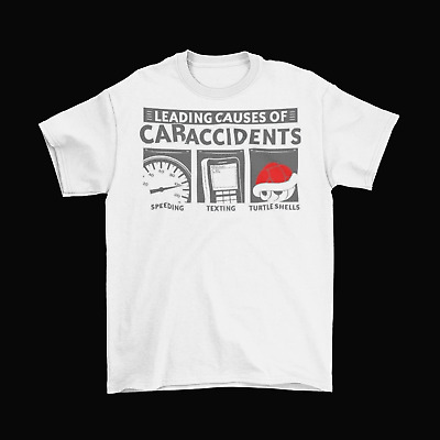 Mario Kart Accidents Red Shell T-Shirt Unisex Cotton Adult Sizes Nintendo New • 13.06£
