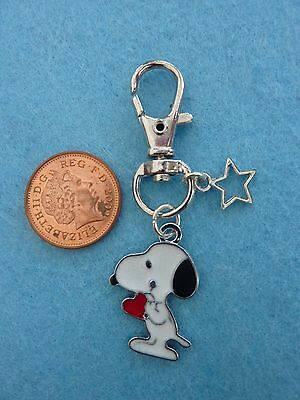 Snoopy Heart Keyring Enamel Bag Charm Birthday Gift/Present Bag Fillers # 26 • 3.59£