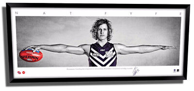 AU195 • Buy Nathan Fyfe Mini Wings Fremantle Fc Official Afl Print Signed Framed Memorabilia