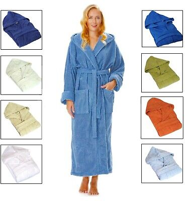 £14.49 • Buy New Unisex Hooded Bath Robes Extra Soft 100% Pure Cotton Terry Toweling Dressing