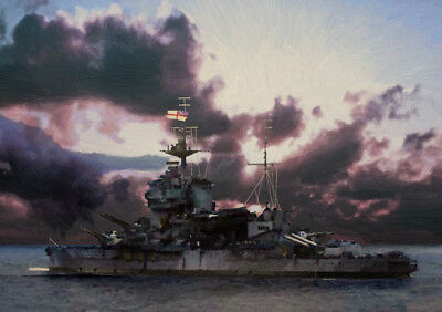 £29.99 • Buy Hms Warspite - Normandy Broadside - Limited Edition Art (25)