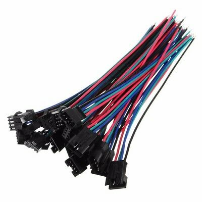 AU3.75 • Buy 10Sets KIT Mini JST 2.54mmPH 4-Pin Male Female Connector Plug Wires Cables 150mm