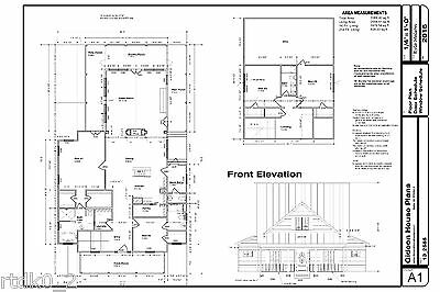 Custom Home House Plan 2,585 SF CAD/DWG And PDF Of Plans • 32.19£