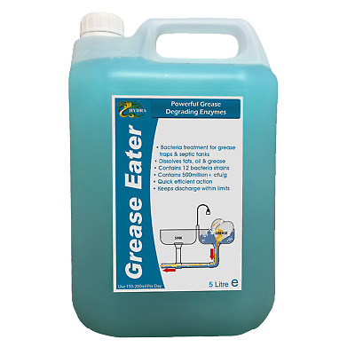 £31.14 • Buy Grease Trap Enzyme Cleaner Degreaser Drain Maintain HYDRA GREASE EATER LIQUID 5L