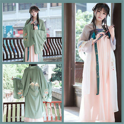 $ CDN64.80 • Buy Chinese Ancient Hanfu Costume Embroidery Ruqun Lolita Cosplay Fancy Dress Suit