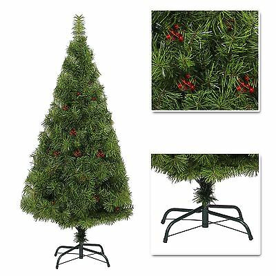 4ft 5ft 6ft 7ft Desiner Luxurious Artificial Christmas Tree Boulder Pine & Berry • 46.99£