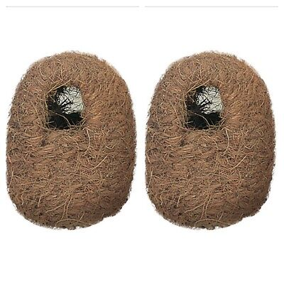 £7.25 • Buy 2 X Finch Nest Coco Wicker Box With Hooks To Back For Exotic Finch Cage /Aviary