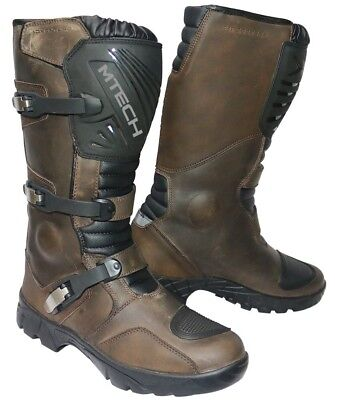 AU179 • Buy MTECH Adventure Motorbike Boots Water Proof A Grade Leather Long Motorcycle Boot