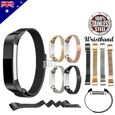 AU14.99 • Buy Milanese Stainless Steel Replacement Metal Band Strap For Fitbit Alta / Alta HR