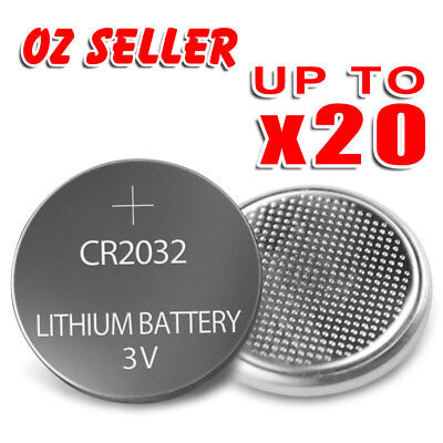 AU4.45 • Buy UP TO 20 Pcs CR2032 3V LITHIUM CELL Button BATTERY 2032 Batteries Car Key Toy OZ
