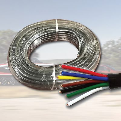 AU22.94 • Buy 10M X 7 Core Wire Cable Trailer Cable Automotive Caravan Truck Coil V90 PVC