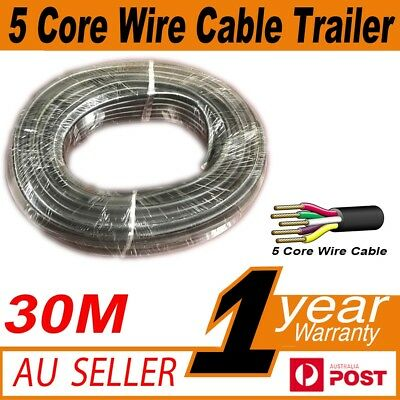 AU38.62 • Buy 30M X 5 Core Wire Cable Trailer Cable Automotive Caravan Truck Coil V90 PVC