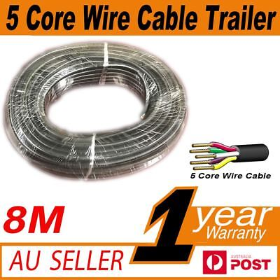 AU20.89 • Buy 8M X 5 Core Wire Cable Trailer Cable Automotive Caravan Truck Coil V90 PVC