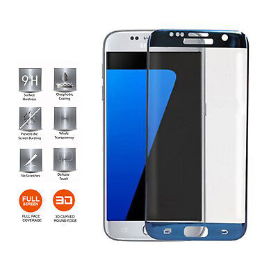 $ CDN7.70 • Buy For Samsung Galaxy S7 Edge - Full Curved Tempered Glass Screen Protection Blue