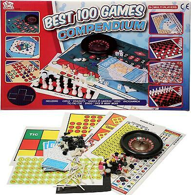 £7.29 • Buy Best 100 Compendium Game Set Traditional Family Board Game Chess Bingo Ludo