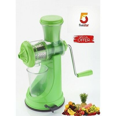 Fruit Juicer To Manually Separate Fruit Pulp And Juicer Wheat Grass Press Green • 12.99£