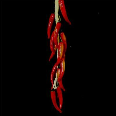 Bunch Of Artificial Hanging Red Chillies - Plastic Decorative Veg Kitchen Prop • 9.99£