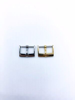 Gold/Silver/Rose 14 18 Mm Stainless Steel Buckle/Clasp Fit Omega Watch Lth Strap • 9.90£