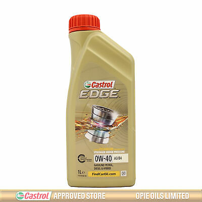 Castrol Edge TITANIUM 0W-40 FST A3/B4 Synthetic Engine Oil 0W40 1 Litre 1L • 13.99£