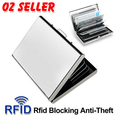 AU6.95 • Buy New Deluxe Wallet ID Credit Card Holder Anti RFID Blocking Stainless Steel Case