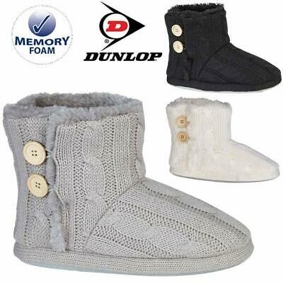 £14.95 • Buy Ladies Slippers Womens Ankle Boots New Knitted Winter Warm Fur Booties Size 3- 9