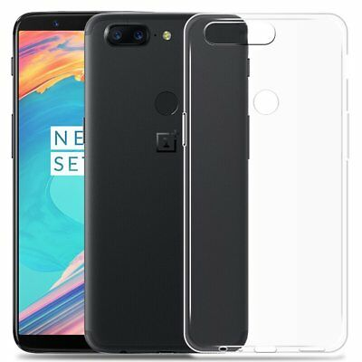 AU6.87 • Buy For OnePlus 5T Clear Slim Gel Case Cover And Tempered Glass Screen Protector