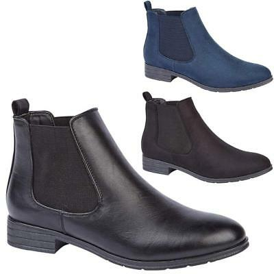 £12.95 • Buy New Womens Ladies Ankle Boots Block Heel Chelsea Slip On Casual Shoes Sizes 3-8
