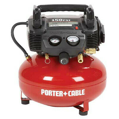 View Details Porter-Cable 0.8 HP 6 Gal. Oil-Free Pancake Air Compressor C2002 Recon • 64.99$