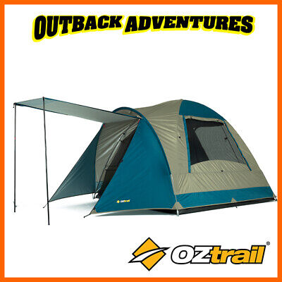 AU99 • Buy Oztrail Tasman 4v Dome Tent Family Camping 4 Person Hiking Camp New Model
