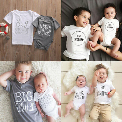 Little Big Brother Matching Clothes Kids Baby Boys Romper T Shirt Tops Outfit • 5.16£