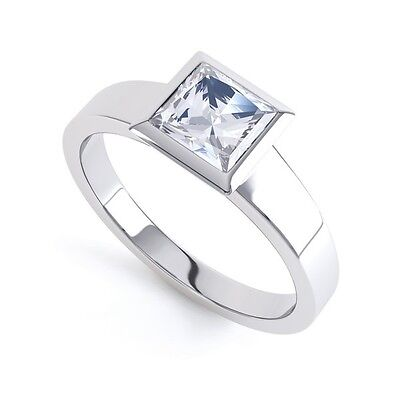 AU1746.57 • Buy 18ct Princess Cut Diamond Solitaire Ring - Ultra Modern