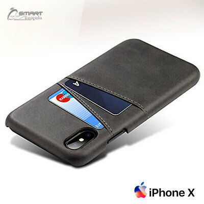 AU7.99 • Buy PU Leather Card Holder Wallet Back Case Cover For IPhone X / IPhone 10 / 8 Plus