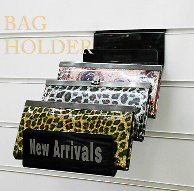 Acrylic Bags Wallet Clutch Bag Retail/Shop Display Stand For Slatwall Groovewall • 12£