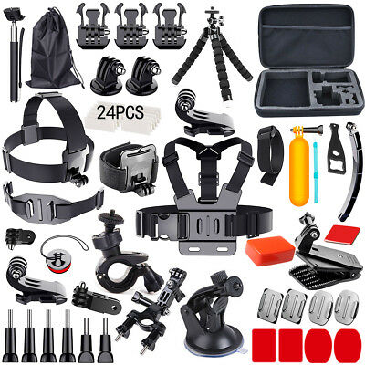 AU15.98 • Buy Accessories Pack Case Head Chest Monopod Bike Surf Mount For GoPro Hero 5 4 3 2