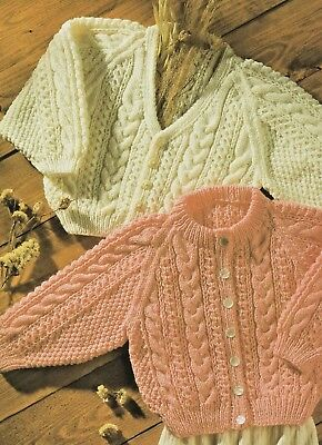 £2.59 • Buy 33 DK Cable Cardigans Knitting Pattern Only Baby Girls/Boys 16 - 22  41 & 56cm