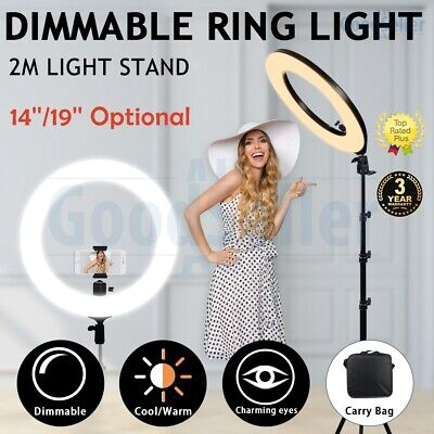AU23.98 • Buy 14  19  5500K Dimmable Diva LED Ring Light Diffuser Mirror Stand Make Up Studio