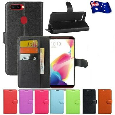 AU7.99 • Buy Leather Wallet Flip Case Cover For Oppo AX5S AX5 AX7 A57 A73 R11S Plus R15 Pro