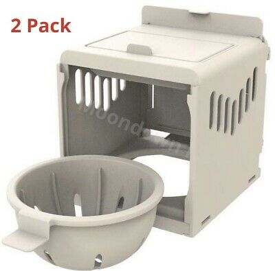 2 X Canary Nest Pans Luxury External Nest Box For Canaries & Small Birds • 12.95£