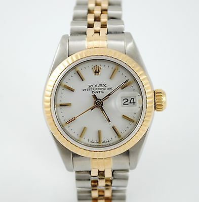 $ CDN4651.37 • Buy Lady Rolex Date Steel And Gold Ref. 69173 Year 1985 Box And Papers