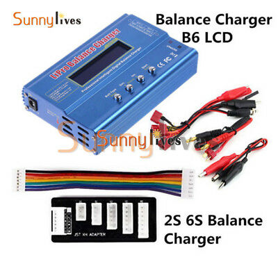 AU28.74 • Buy IMAX B6 LCD Screen Digital RC Lipo NiMh Battery Balance Charger 2S 6S JST-XH