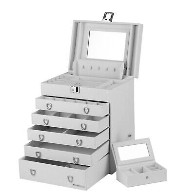 AU99.99 • Buy Extra Large Wooden Jewellery Box Necklace Rings Storage Cabinet Mirror Organiser