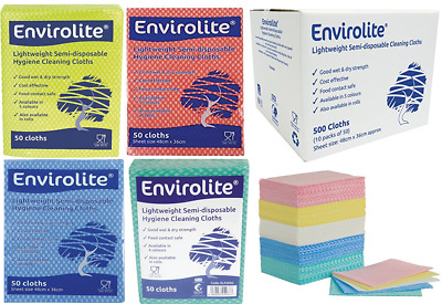 £5.99 • Buy Envirolite Folded Cleaning Cloth Large (48 X 36cm) Blue Red Green & Yellow