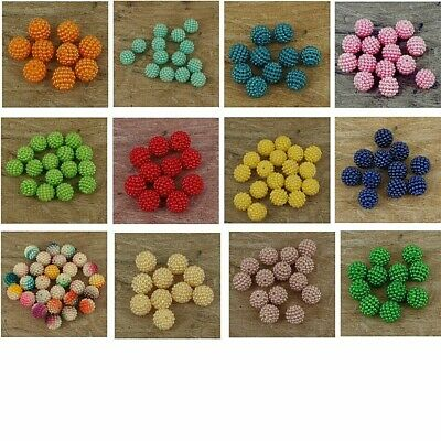 £2.95 • Buy Pearl Cluster Resin Pearls Craft Beads Gems  12 Mm Size , Pack Of 50 . P20